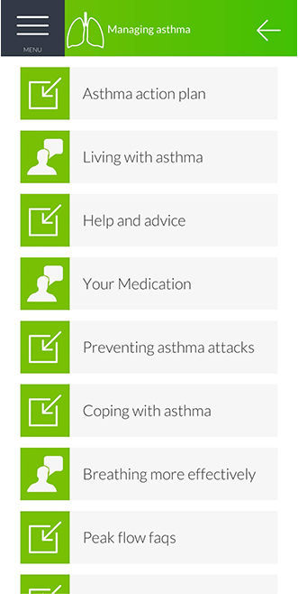 Manage your Health Screen Shot